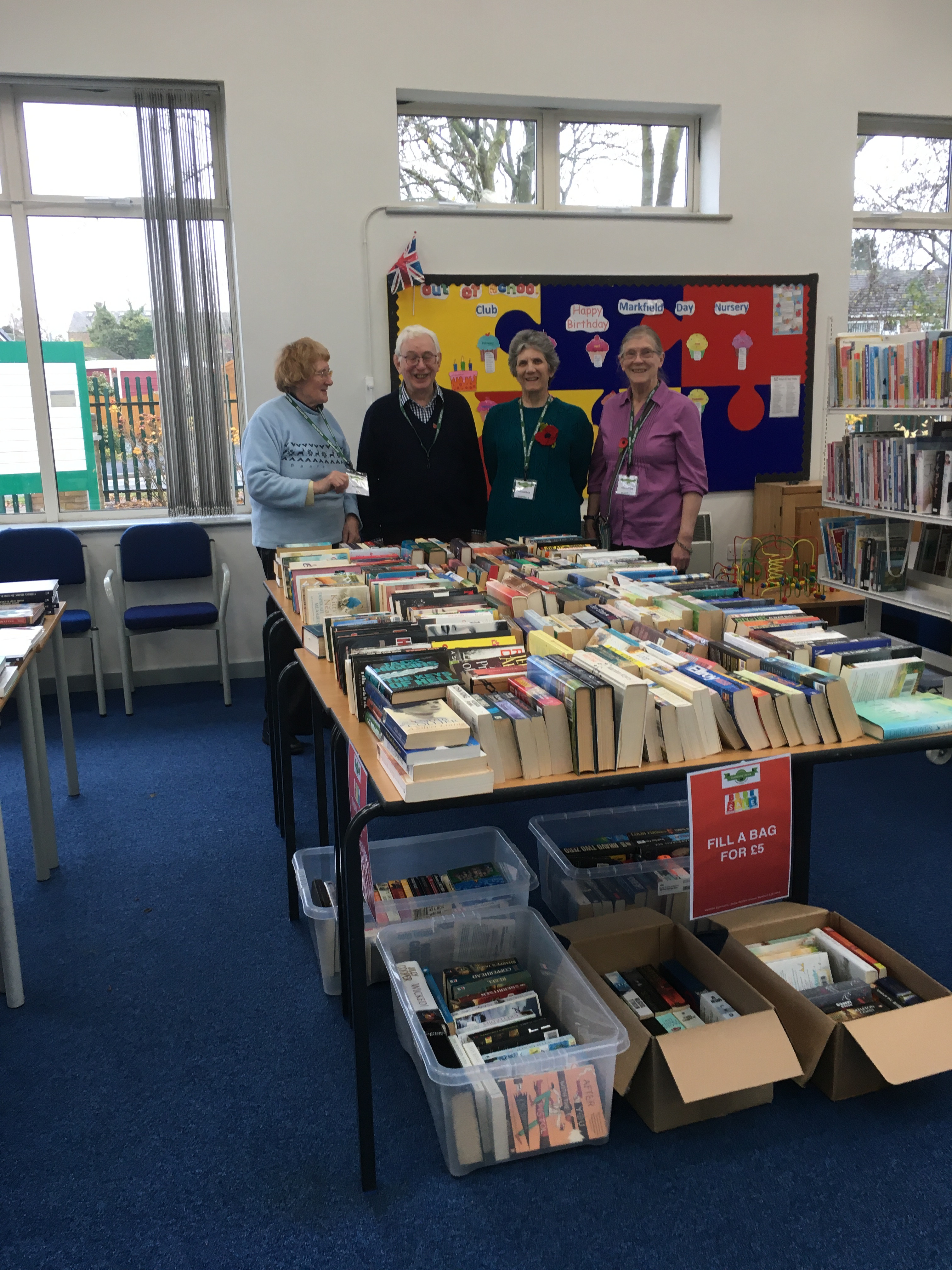 Book sale at Markfield Library